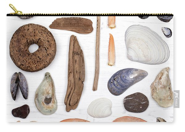 Beach Treasure Flat Lay Carry-all Pouch