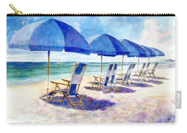 Beach Umbrellas Carry-all Pouch