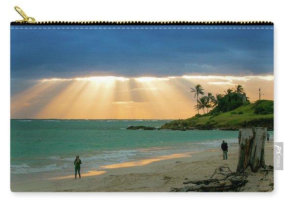 Beach Walk At Sunrise Carry-all Pouch