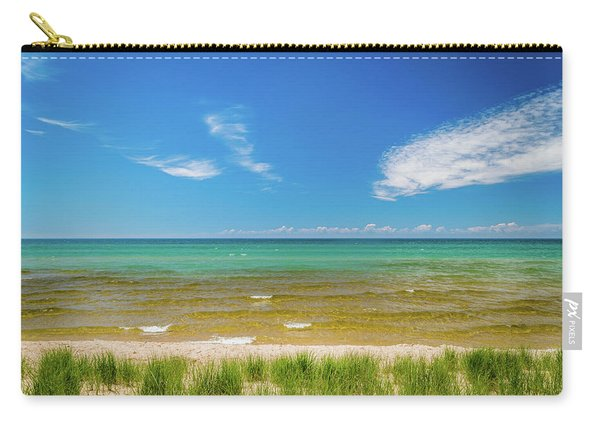 Beach With Blue Skies And Cloud Carry-all Pouch
