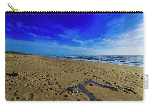 Beach With Wood Trunk - Spiaggia Con Tronco I Carry-all Pouch