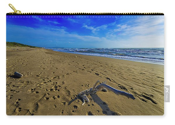 Beach With Wood Trunk - Spiaggia Con Tronco II Carry-all Pouch
