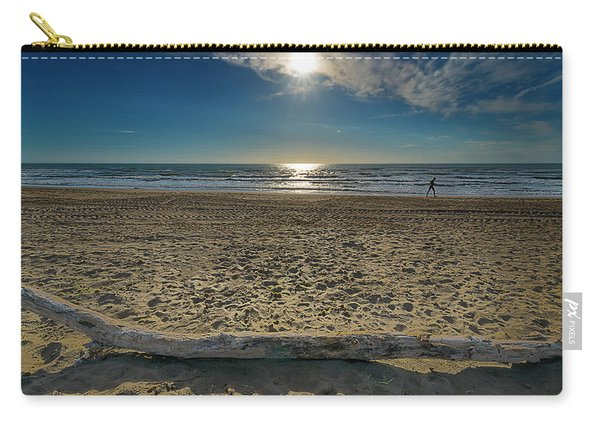 Beach With Wood Trunk - Spiaggia Con Tronco Iv Carry-all Pouch
