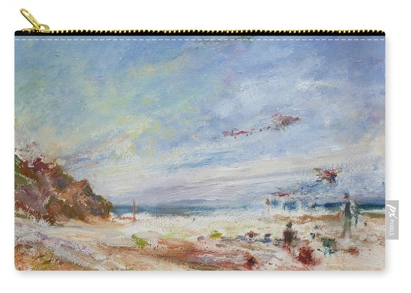 Beachy Day - Impressionist Painting - Original Contemporary Carry-all Pouch