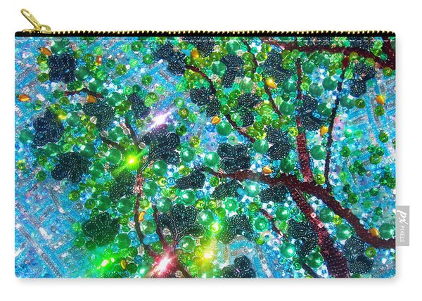 Bead Embroidery. Tree And Sky Carry-all Pouch