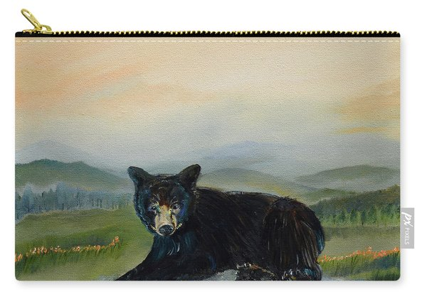 Bear Alone On Blue Ridge Mountain Carry-all Pouch