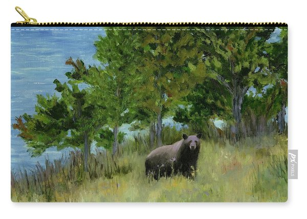 Bear At The Lake Carry-all Pouch