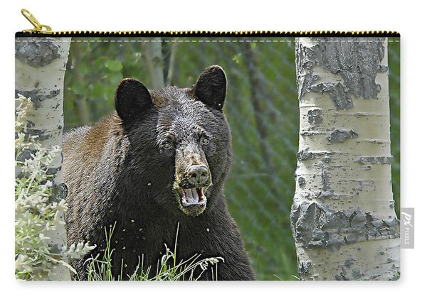 Bear In Yard Carry-all Pouch