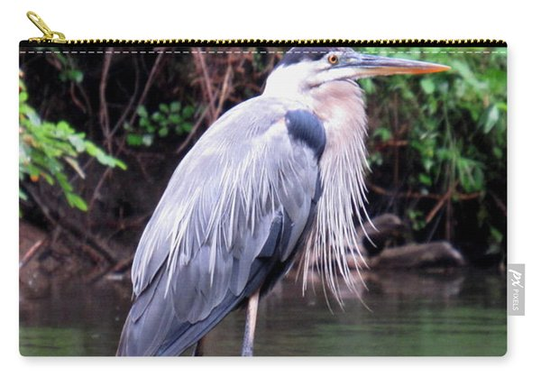 Bearded Blue Heron Carry-all Pouch