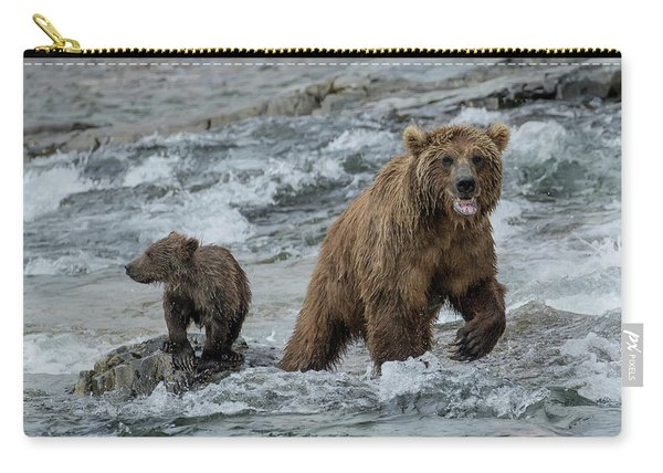 Bears Being Watchful  Carry-all Pouch