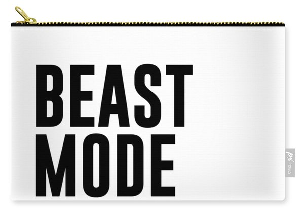 Beast Mode On - Gym Quotes 1 - Minimalist Print - Typography - Quote Poster Carry-all Pouch