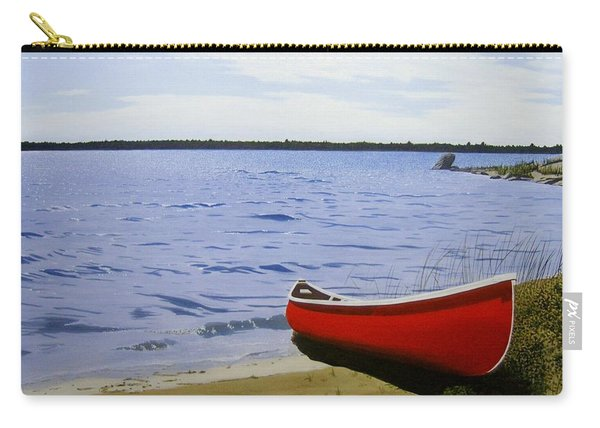 Beautiful Red Canoe Carry-all Pouch
