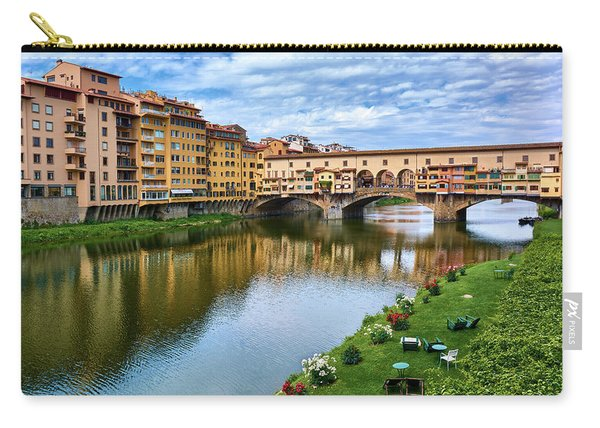 Ponte Vecchio On A Spring Day In Florence, Italy Carry-all Pouch