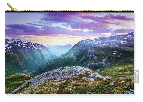 Carry-all Pouch featuring the photograph Light In A Valley by Dmytro Korol