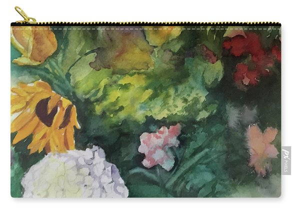 Beautiful Floral Jumble Carry-all Pouch