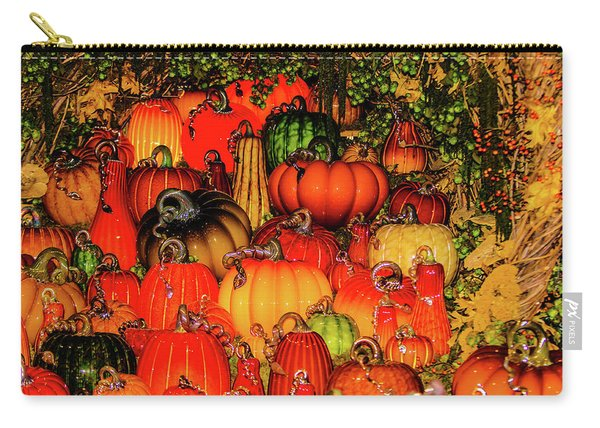 Beautiful Glass Pumpkins Carry-all Pouch