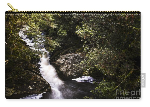 Beautiful Nature Landscape Of A Flowing Waterfall Carry-all Pouch