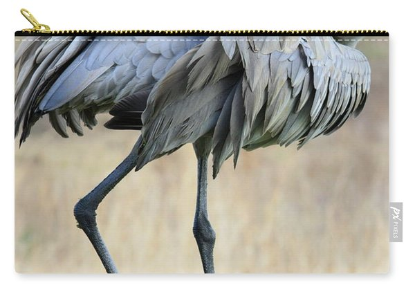 Beautiful Preening Sandhill Crane Carry-all Pouch