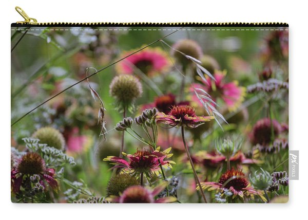 Beautiful Purple And Yellow Wildflowers Carry-all Pouch