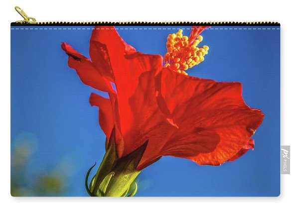 Beautiful Red Hibiscus Carry-all Pouch
