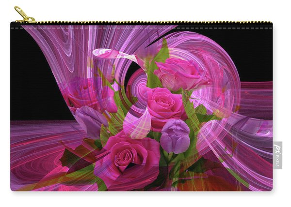 Beautiful Rose Bouquet Montage Carry-all Pouch