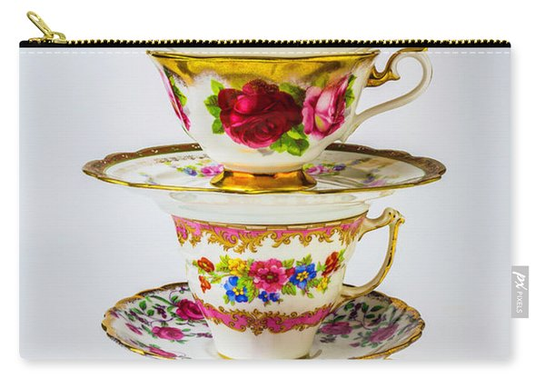 Beautiful Stacked Tea Cups Carry-all Pouch