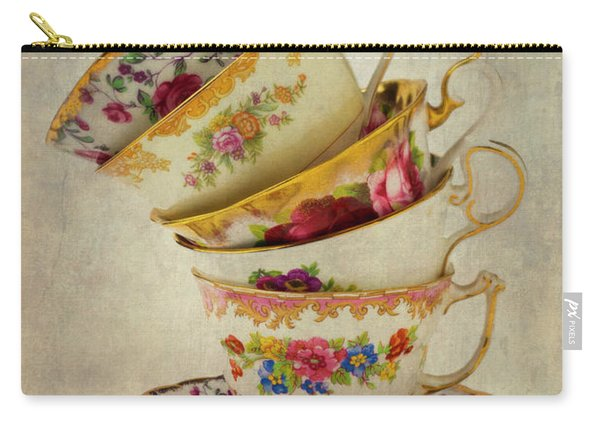 Beautiful Tea Cups Carry-all Pouch