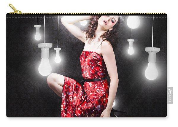 Beautiful Vogue Style Woman. Fashion Art Portrait Carry-all Pouch
