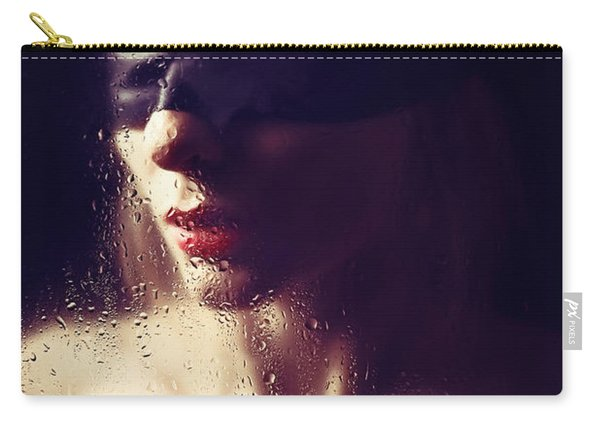 Beautiful Woman Blindfolded #8313 Carry-all Pouch