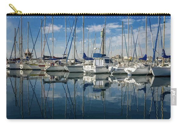 Beautiful Yachts Moored In The Marina Carry-all Pouch