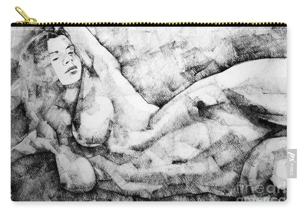 Beautiful Young Girl Pencil Art Drawing Carry-all Pouch
