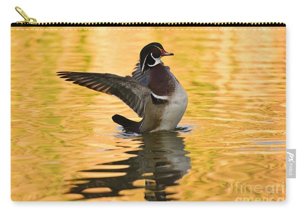 Wood Duck Sunset  Carry-all Pouch