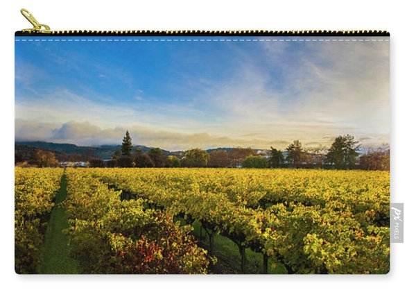 Beauty Over The Vineyard Panoramic Carry-all Pouch