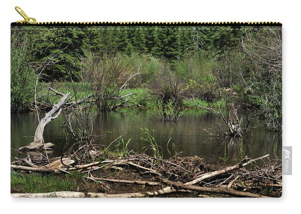 Carry-all Pouch featuring the photograph Beaver Pond by Ron Cline