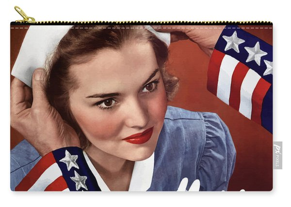 Become A Nurse -- Ww2 Poster Carry-all Pouch