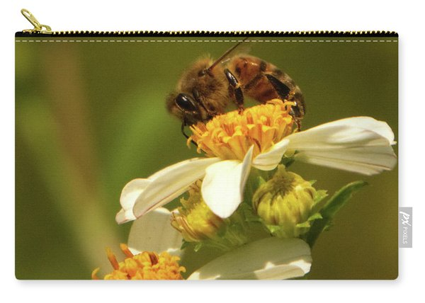Bee Among Daisies Carry-all Pouch