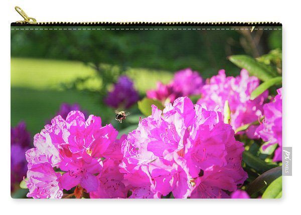 Bee Flying Over Catawba Rhododendron Carry-all Pouch