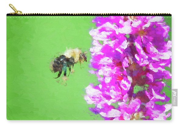 Bee Kissing A Flower Carry-all Pouch
