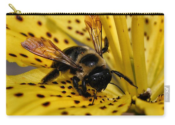 Bee On A Lily Carry-all Pouch