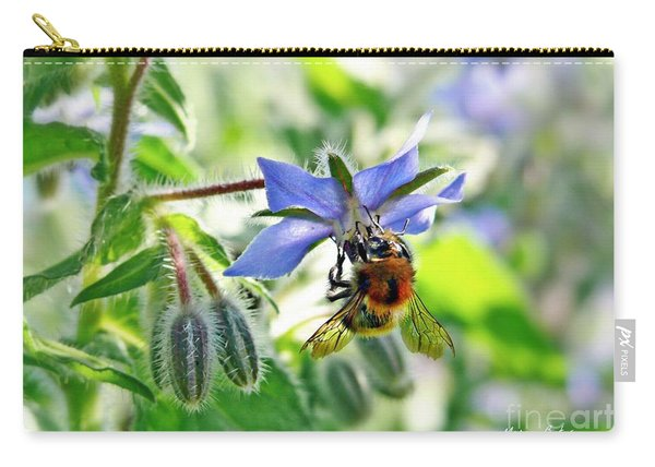 Bee On Borage Carry-all Pouch