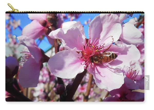 Bee On The Blossom Carry-all Pouch
