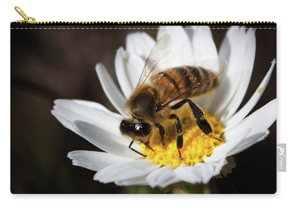 Bee On The Flower Carry-all Pouch