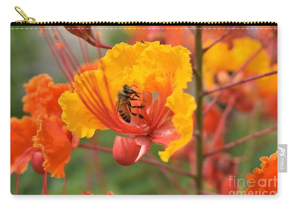 Bee Pollinating Bird Of Paradise Carry-all Pouch