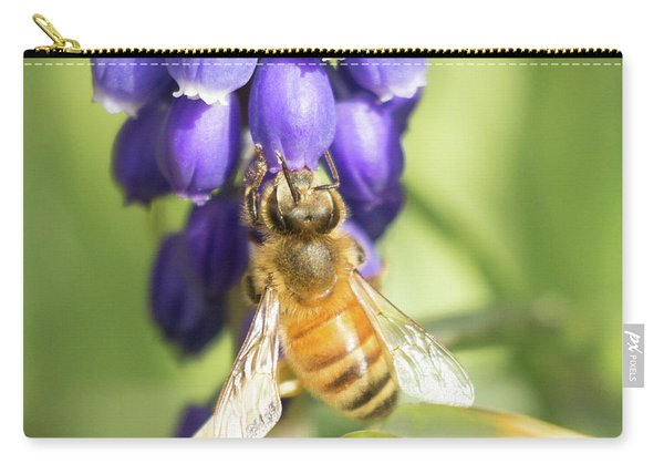 Carry-all Pouch featuring the photograph Bee Struggles by Brian Hale