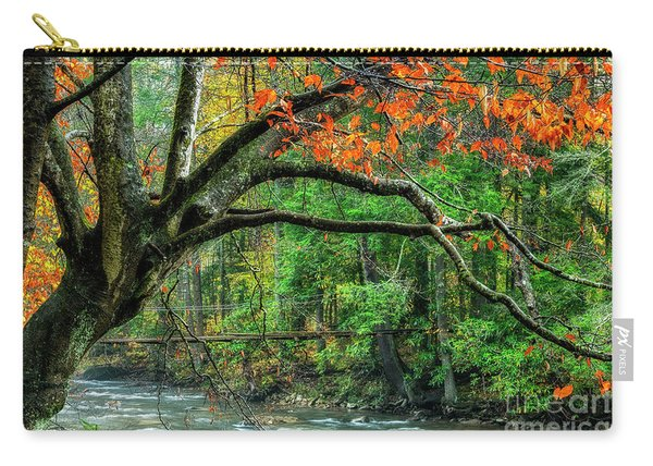 Beech Tree And Swinging Bridge Carry-all Pouch