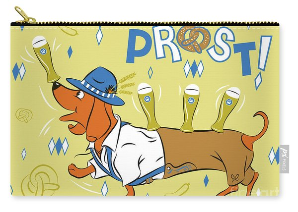 Beer Dachshund Dog Carry-all Pouch
