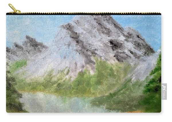 Carry-all Pouch featuring the painting Bee's Eyed View by Kevin Daly