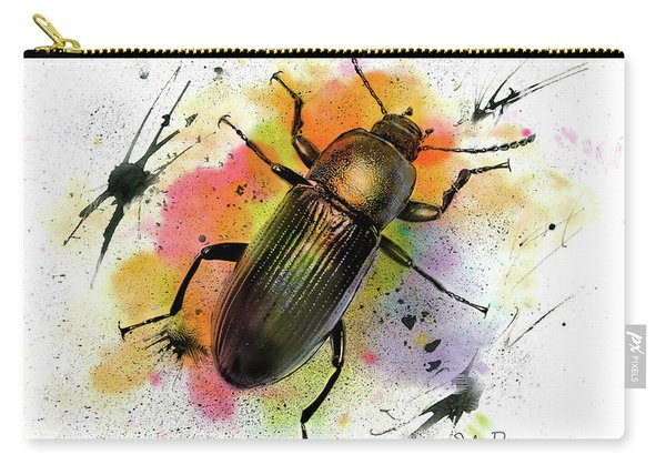 Beetle Illustration Carry-all Pouch