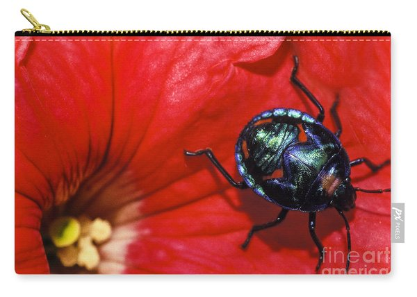 Beetle On A Hibiscus Flower. Carry-all Pouch