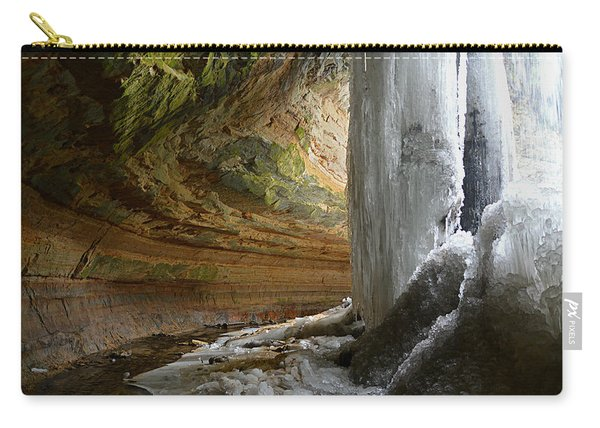 Behind The Ice Falls Carry-all Pouch